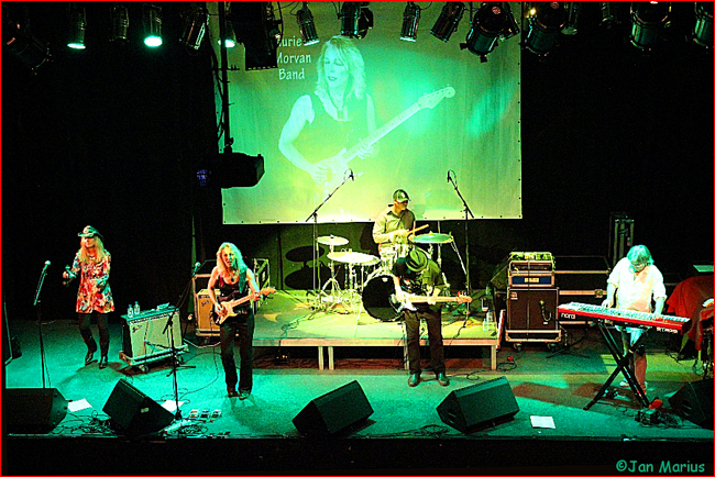 Laurie Morvan Band headlines at De Pit in Terneuzen, Netherlands during their European tour.