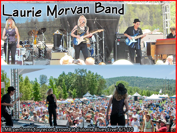Laurie Morvan Band performed for record crowd at Coloma Blues Live 6/5/10
