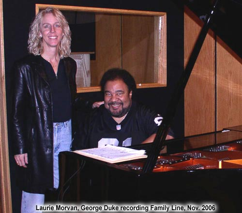 George Duke recorded with Laurie Morvan