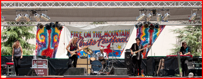 Laurie Morvan Band live at the 2010 Fire On The Mountain Music Festival