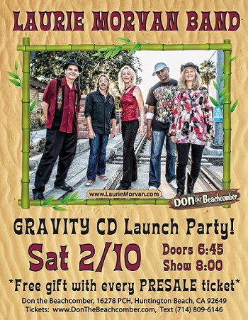Gravity CD Release show by Laurie Morvan Band at Don The Beachcomber on Feb 10, 2018