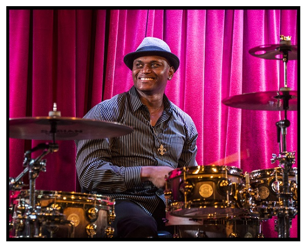 Lonnie Jones, drummer for the Laurie Morvan Band