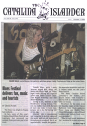 Catalina Islander Blues Festival review Laurie Morvan