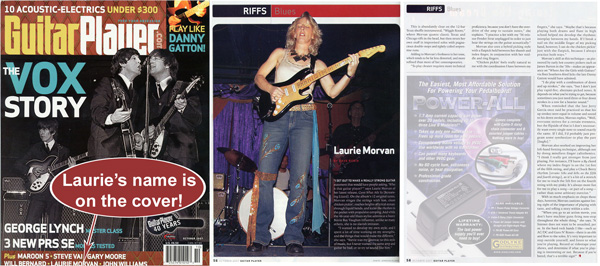 Guitar Player Magazine Feature Story on Laurie Morvan