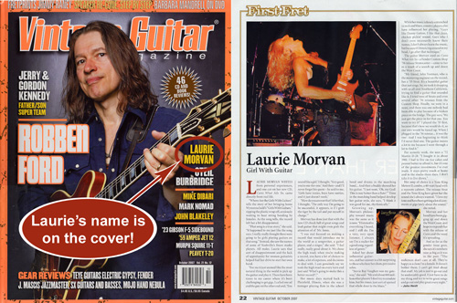 Vintage Guitar Feature  Article on Laurie Morvan
