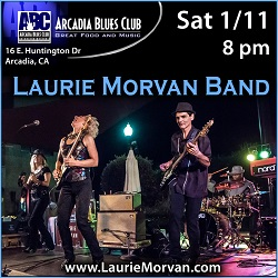 Arcadia Blues Club hosts the Laurie Morvan Band on January 11 2020