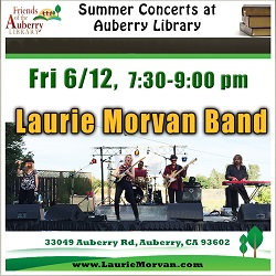 Auberry Library Summer Concerts presents the Laurie Morvan Bandon June 12, 2020