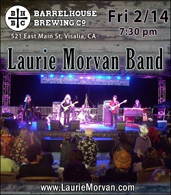 Laurie Morvan Band at Barrelhouse Brewing Co on friday february 14.