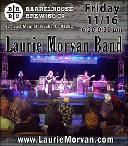 Barrelhouse Brewing Co with Laurie Morvan Band on Nov 16, 2018