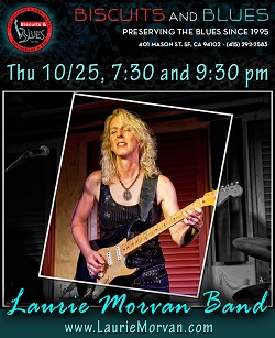 Biscuits and Blues on October 25 2018 with Laurie Morvan Band