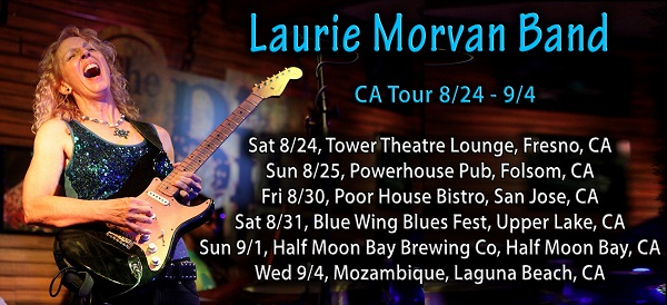 Laurie Morvan Band California Tour August-September 2019