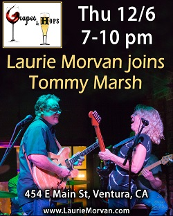 Laurie Morvan joins Tommy Marsh at Grapes and Hops December 6 2018