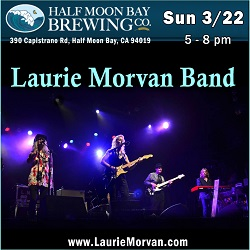 Half Moon Bay Brewing Co with the Laurie Morvan Band on Sunday March 22