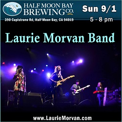 Laurie Morvan Band at Half Moon Bay Brewing Co on September 1 2019