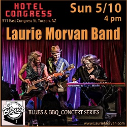 Laurie Morvan Band plays the Blues and BBQ Concert Series at Hotel Congress on May 10 2020.