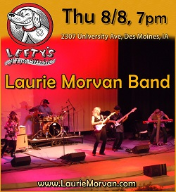 Laurie Morvan Band at Lefty's Live Music on Aug 10 2019