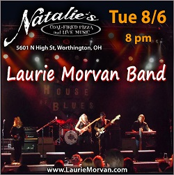 Natalie's in Worthington OH presents Laurie Morvan Band August 6 2019