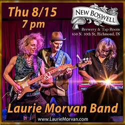 New Boswell presents Laurie Morvan Band on Thurs Aug 15, 2019