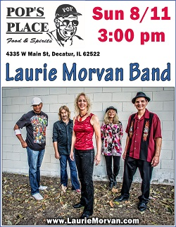 Pop's Place in Decatur on August 11 2019 with Laurie Morvan Band