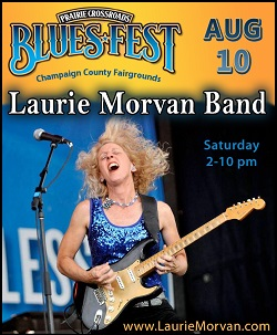 Prairie Crossroads Blues Fest with Laurie Morvan Band August 10 2019