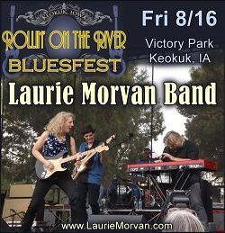 Rollin On The River BluesFest with Laurie Morvan Band on August 16 2019