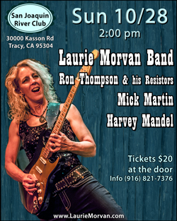 Twin Pine Casino show with the Laurie Morvan Band on Fri 10/26/18