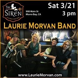 Laurie Morvan Band plays in Morrow Bay at the Siren on March 21 2020.
