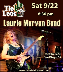 Laurie Morvan Band playing Tio Leo's in San Diego on 9/22/18
