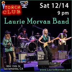 Laurie Morvan Band plays the Torch Club in Sacramento Dec 14 2019