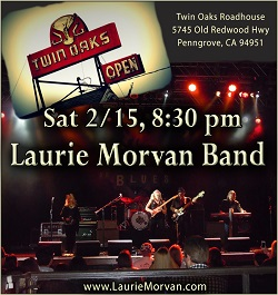 Laurie Morvan Band at Twin Oaks Roadhouse on February 15 2020
