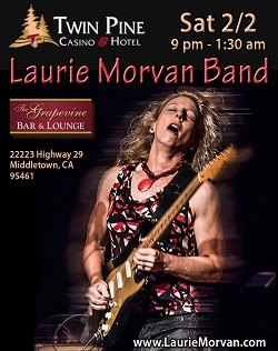 Twin Pines Casino features Laurie Morvan Band February 2 2018