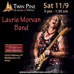 Twin Pine Casino host Laurie Morvan Band on June 8 2019