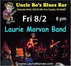Uncle Bo's Blues Bar with Laurie Morvan Band on August 2nd 2019