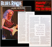Guitar Player Laurie Morvan in Blues Revue Magazine