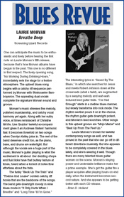 Blues Revue CD review of Breathe Deep by the Laurie Morvan Band