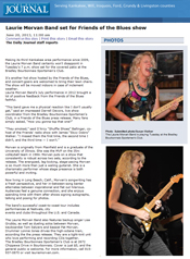 Read the Daily Journal feature article on Laurie Morvan Band