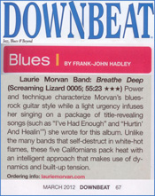 Downbeat reviews Breathe Deep by the Laurie Morvan Band