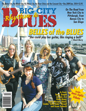Laurie Morvan on cover of Big City Blues magazine Dec 09 Jan 10