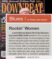 Laurie Morvan Band, Fire It Up! CD review in DownBeat August 2010