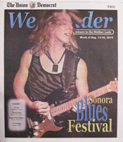 Laurie Morvan on cover of Weekender, Union Democrat, 8/12/10