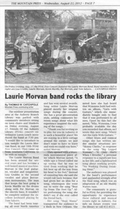 Mountain Press features Laurie Morvan Band in their Aug 22, 2012 issue