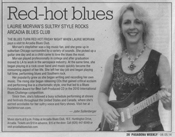 Pasadena Weekly Arts Section Feature Article on the Laurie Morvan Band