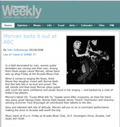 Pasadena Weekly feature article on Laurie Morvan from their Sept 18, 2008 issue
