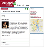 Portland Monthly features Laurie Morvan Band at Duff's Garage