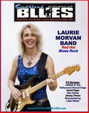 Laurie Morvan on the cover of Southland Blues Magazine June 2013