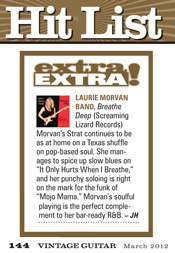 Vintage Guitar reviews Breathe Deep by the Laurie Morvan Band in March 2012 issue