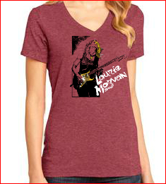 Ladies V-neck Red Heather shirt